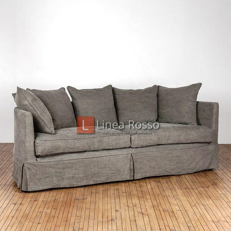 Elegant Oak Sofa 4 Seater Scuff Linen Gorse 1 h - Фото диванов Киев