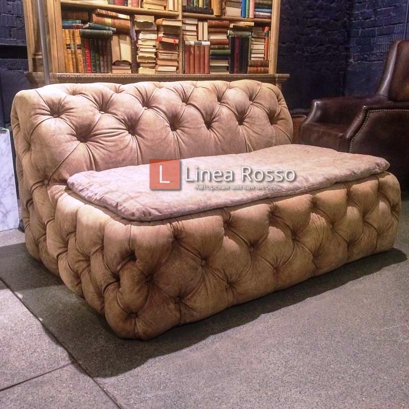 Plash Sofa 2 Seater Warrior Vintage Moleskin Rugger 1 h - Фото диванов Киев