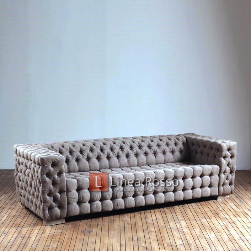 Serge 3 Seater Sofa Linen Oak PJF082 2 h - Фото диванов Киев