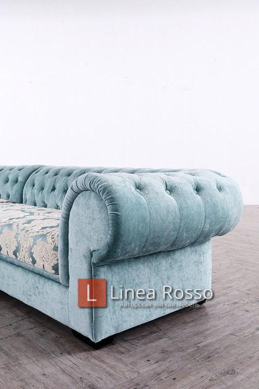 Biryuzovyj divan2 - Угловой диван в бирюзовом цвете