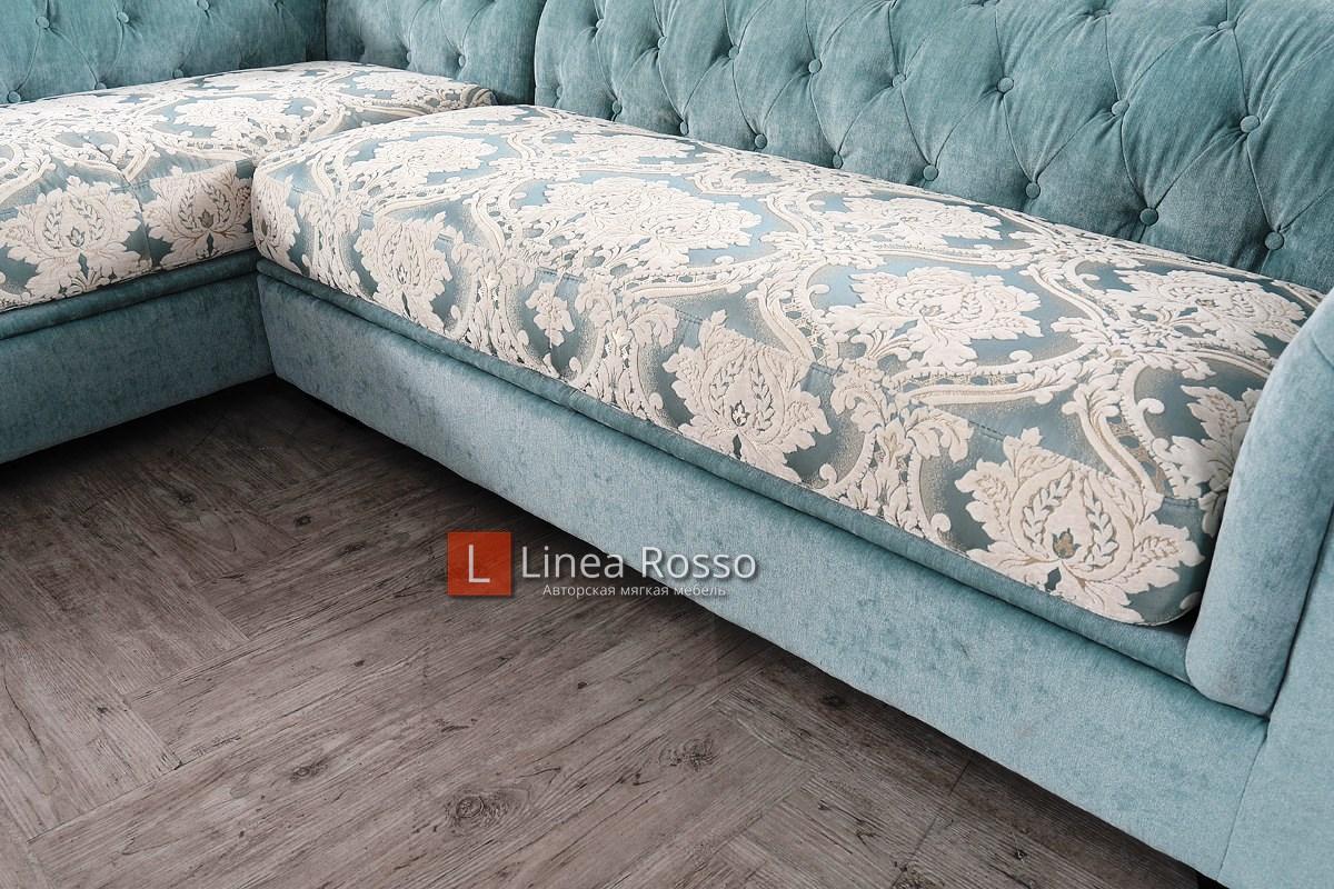 Biryuzovyj divan3 - Угловой диван в бирюзовом цвете