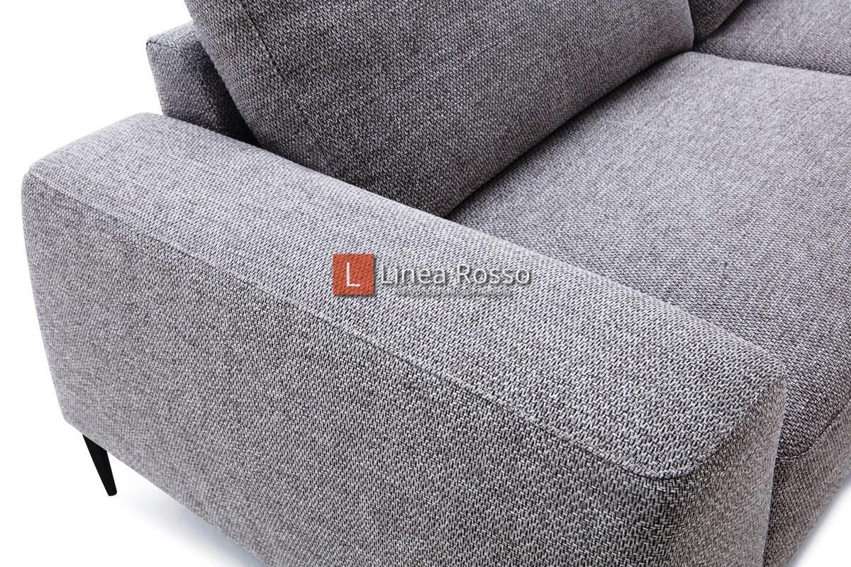 Прямой диван серый под заказ