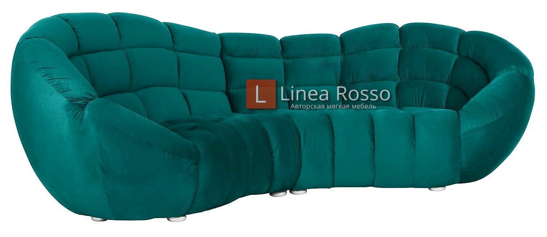 Изумрудный диван на заказ