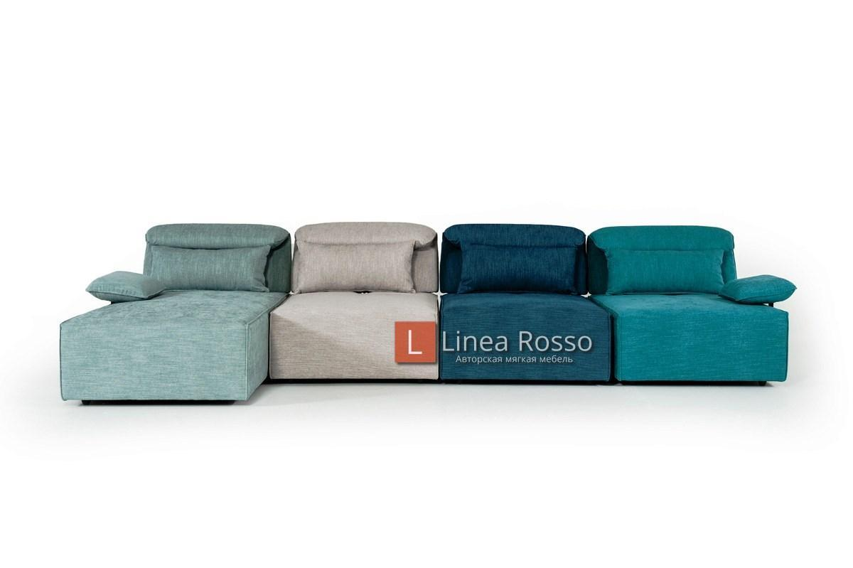 Модульный разноцветный диван