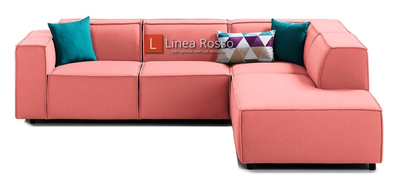 rozovyj divan1 1 - Розовый диван под заказ в Киеве