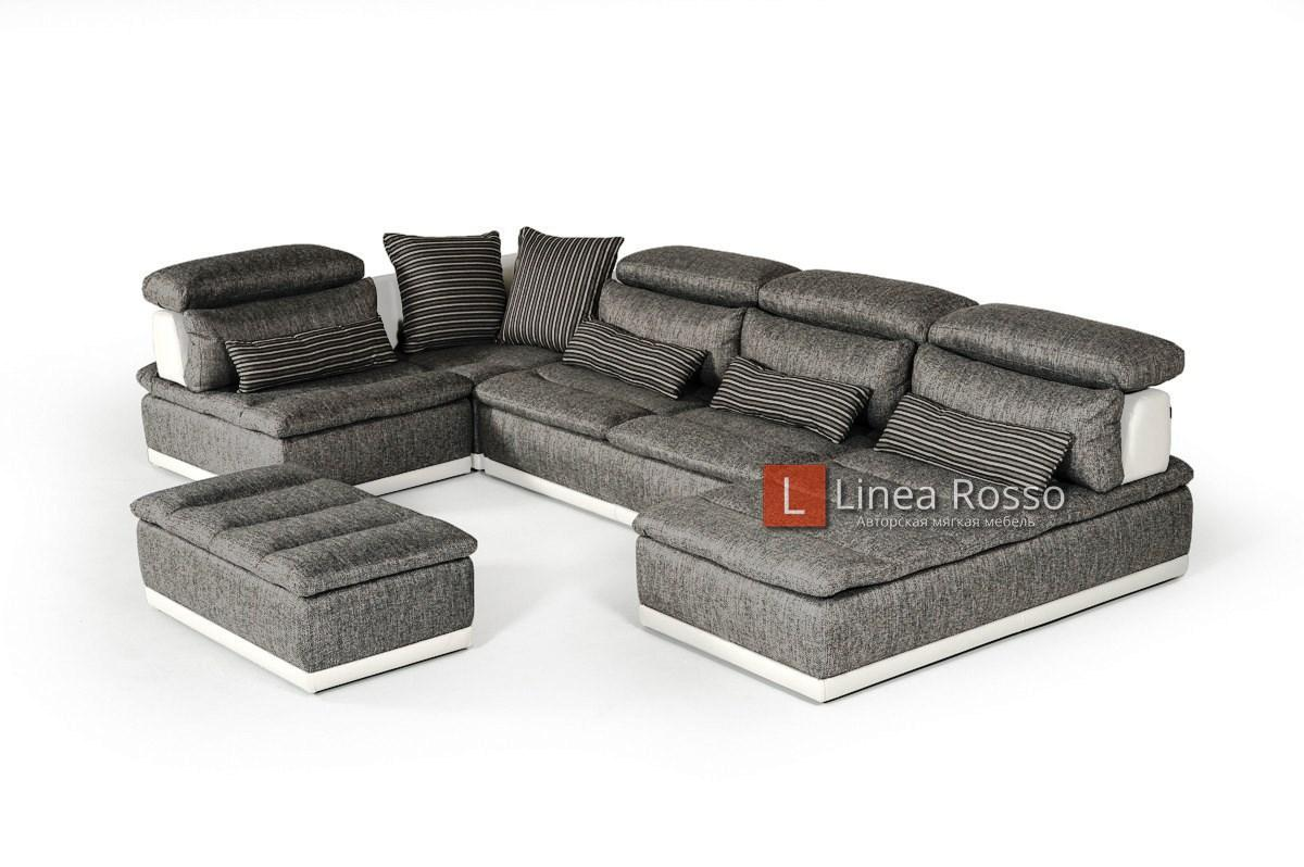 seryj divan iz modulej - Серый диван из модулей под заказ