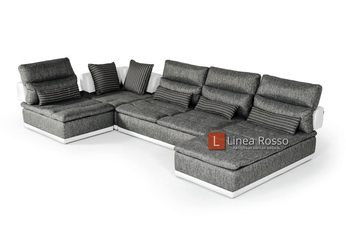 seryj divan iz modulej3 - Серый диван из модулей под заказ