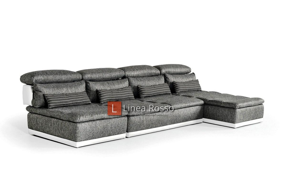 Серый диван из модулей под заказ