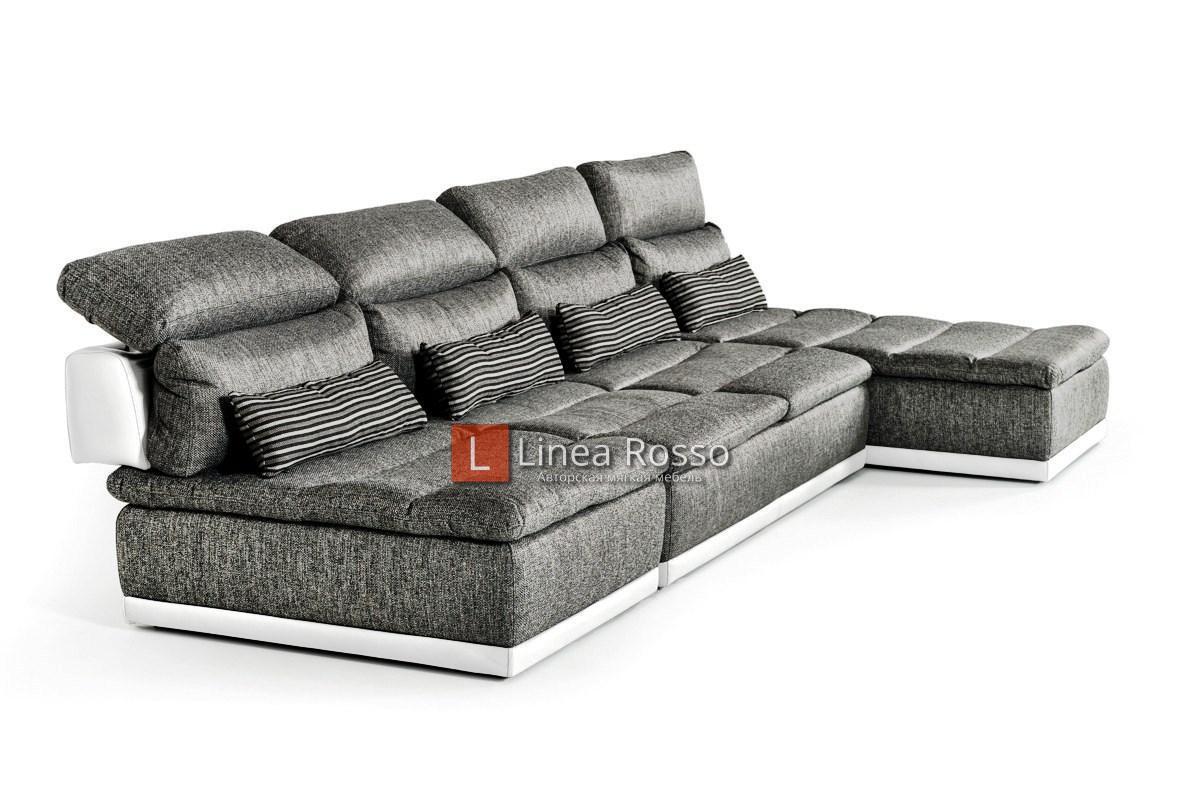 seryj divan iz modulej5 - Серый диван из модулей под заказ
