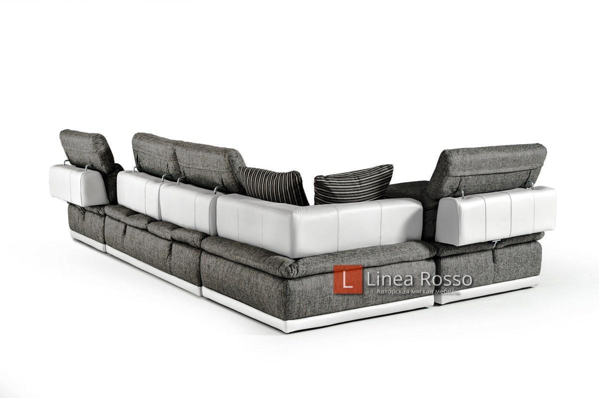 seryj divan iz modulej8 - Серый диван из модулей под заказ