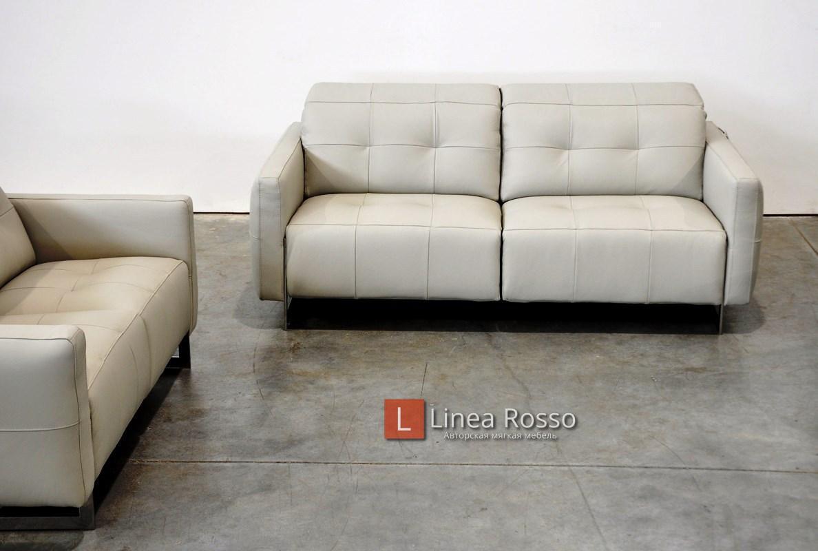 seryj kozhanyj divan2 - Серый кожаный диван