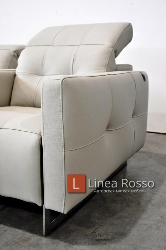 seryj kozhanyj divan3 - Серый кожаный диван под заказ