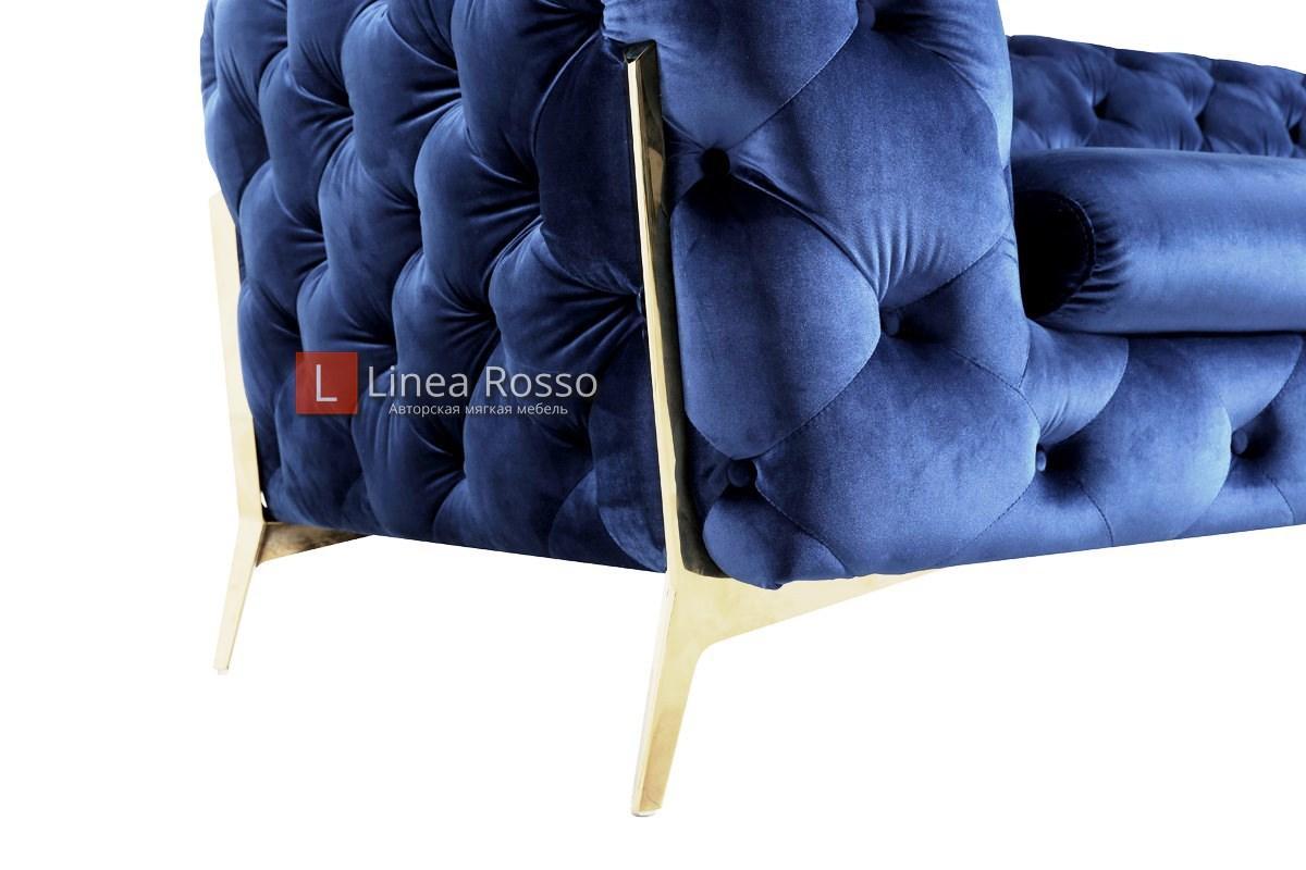 Темно синий диван на заказ