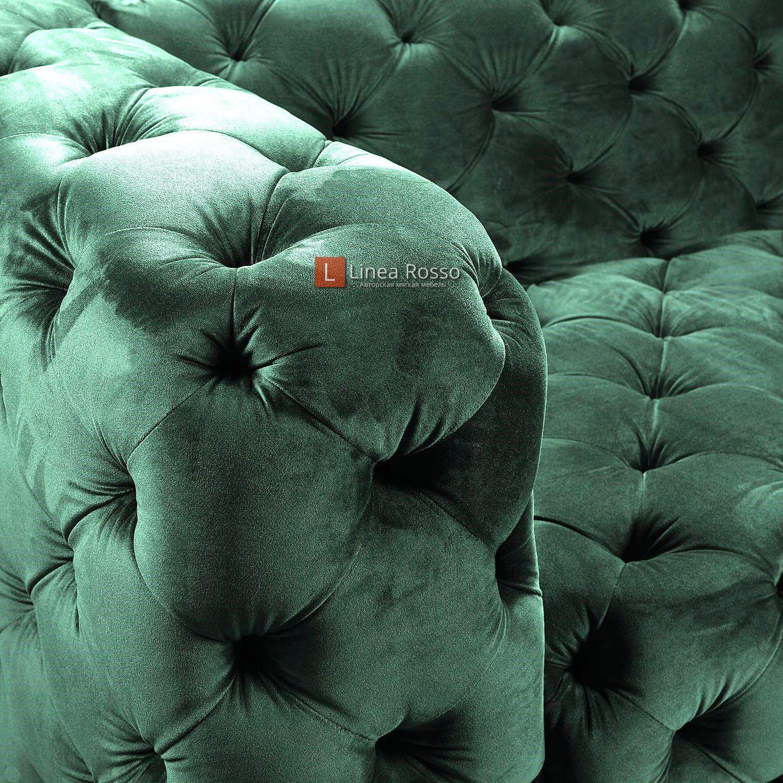 zelenyj divan v pikovke4 - Зеленый диван в пиковке под заказ