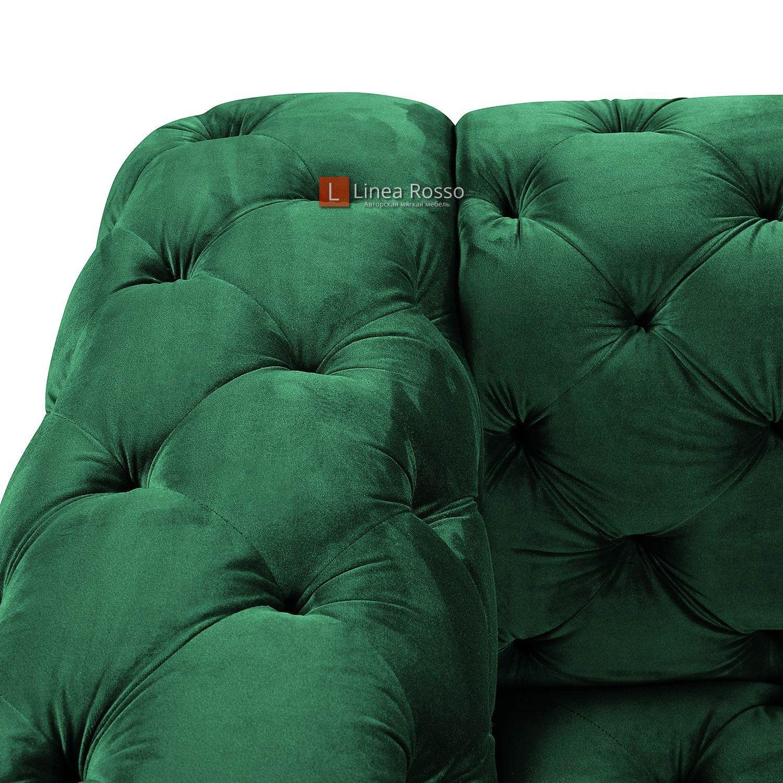 zelenyj divan v pikovke6 - Зеленый диван в пиковке под заказ