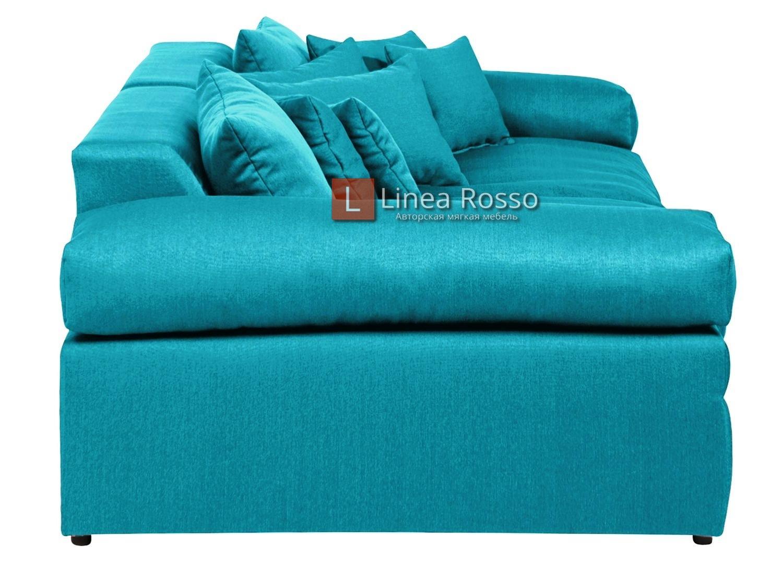 byuryuzovyj pryamoj divan2 - Бирюзовый диван на заказ