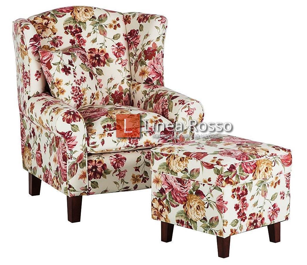 kreslo v tsvetochnyj print - Кресло с цветочным принтом на заказ