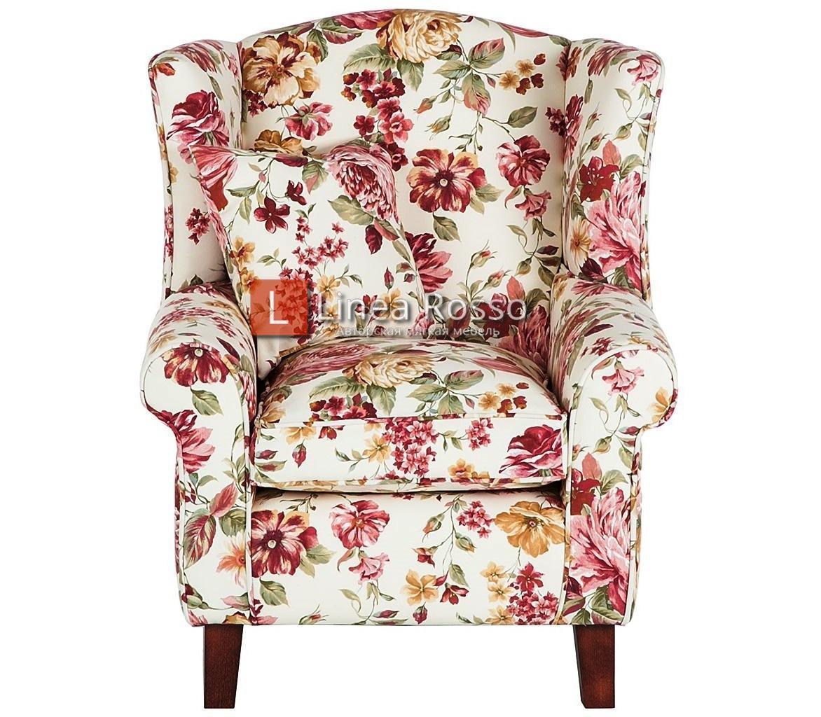 kreslo v tsvetochnyj print4 - Кресло с цветочным принтом на заказ