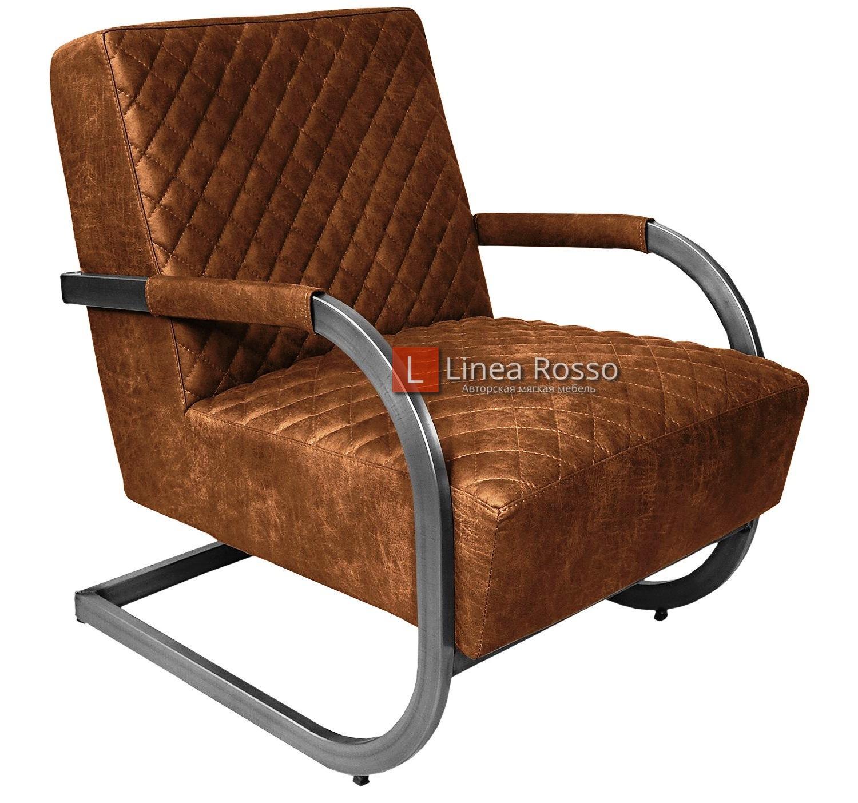 Кресло в замшевой ткани на заказ