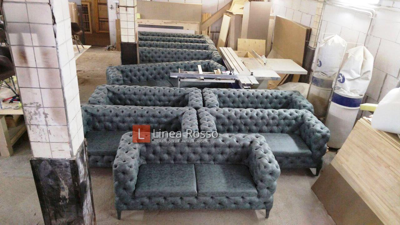Прямые диваны на заказ